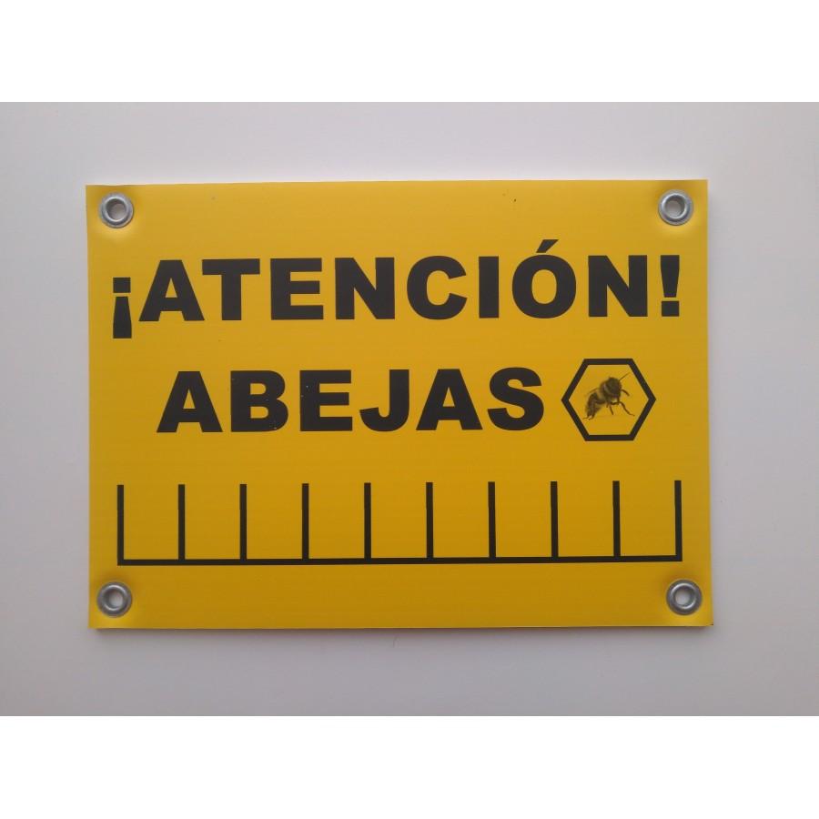 CARTEL DE ATENCIÓN ABEJAS